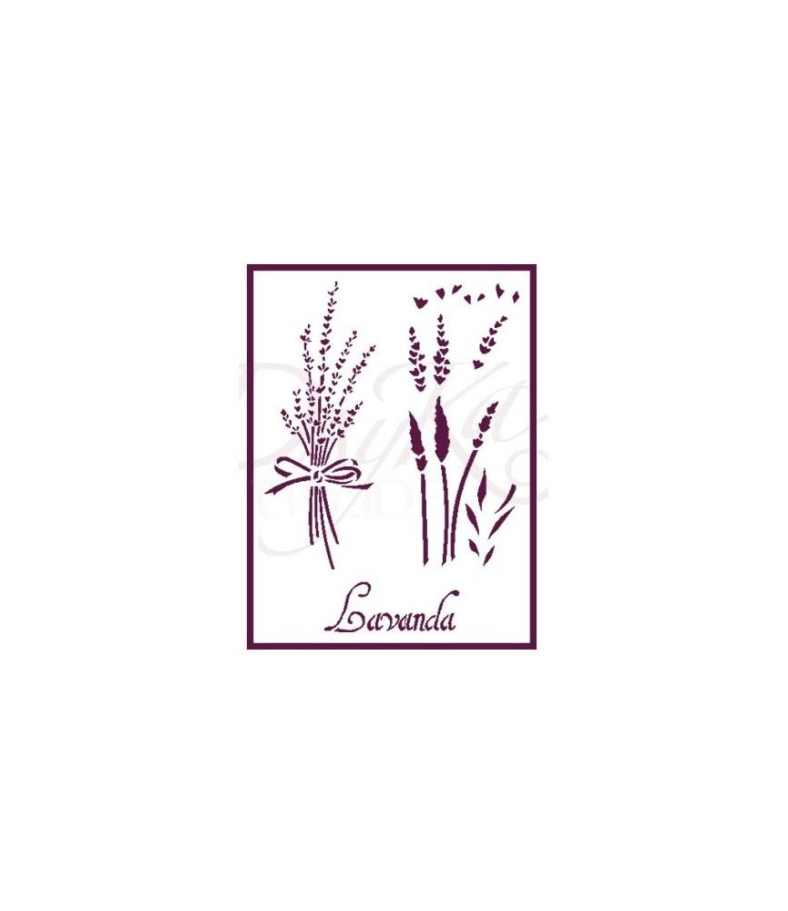 Plantilla stencil A5 Lavanda