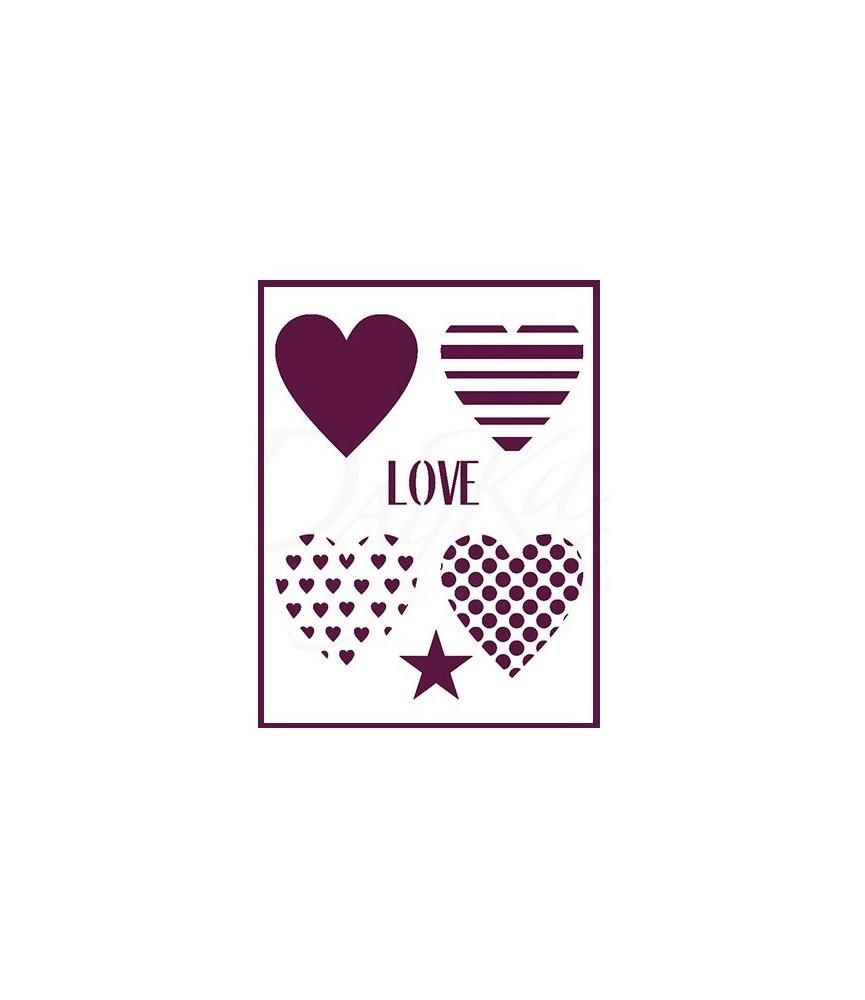 plantilla stencil DIN-A4 Mod love