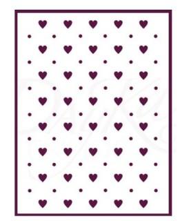 Comprar plantilla stencil DIN-A4 Mod corazones de Conideade