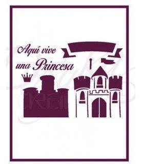 plantilla stencil DIN-A4 Mod al Princesa