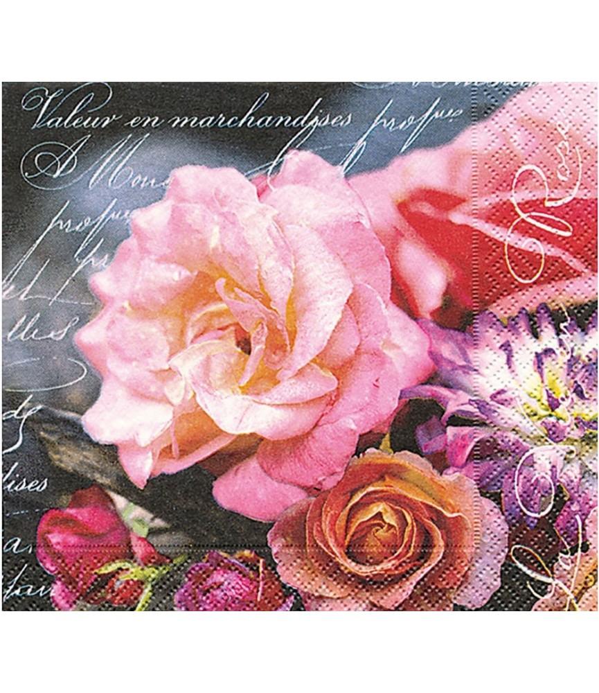Servilleta la vie en rose 33x33 cm