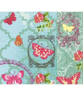 Servilleta Butterfly garden 33x33 cm