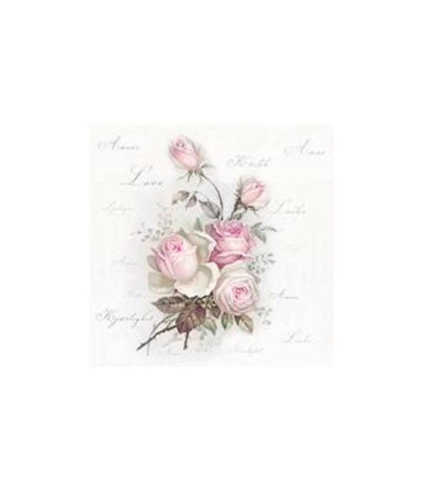 Servilleta Love rose 33cm x 33cm