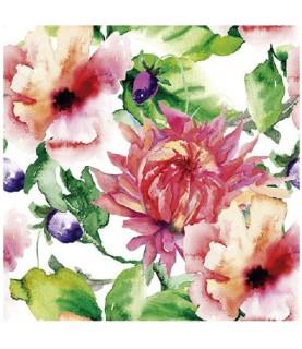 """Imagén: Papel sublimación 30x30cm """"Flores color"""""""