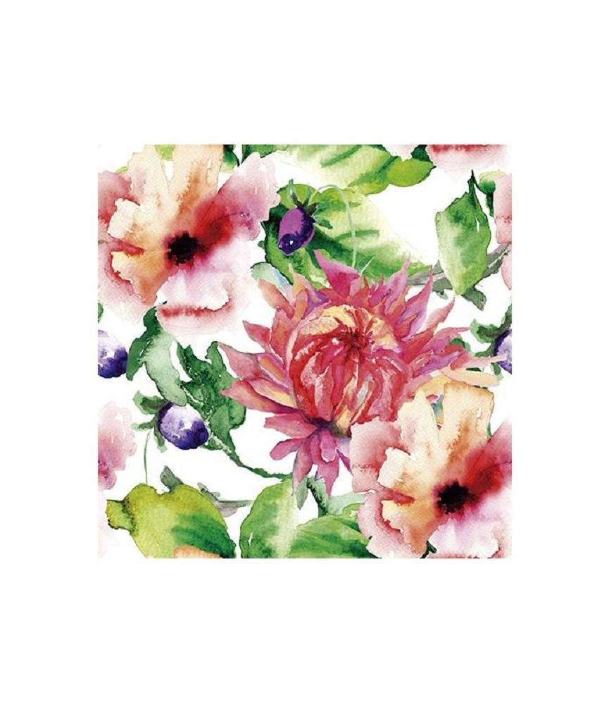 """Papel sublimación 30x30cm """"Flores color"""""""