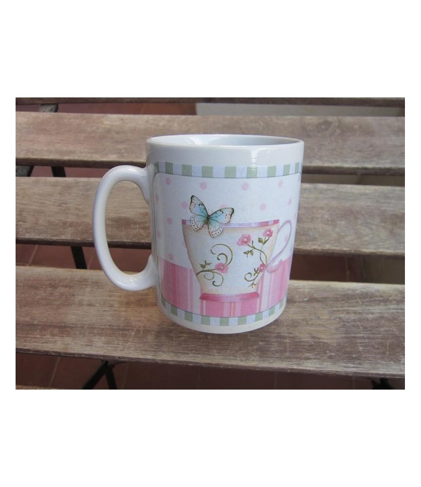 Kit decoración taza con decoupage