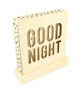 Lampara led de madera Good Night
