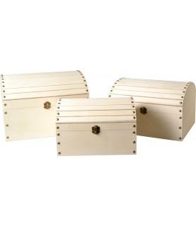Imagén: Set de 3 Baules de madera