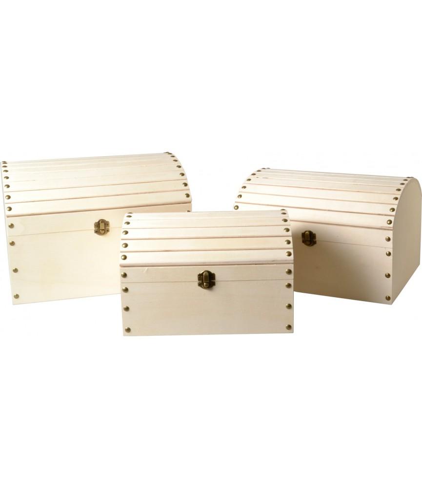 Set de 3 Baules de madera