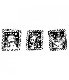Comprar Sello de madera 3 sellos navidad de Conideade