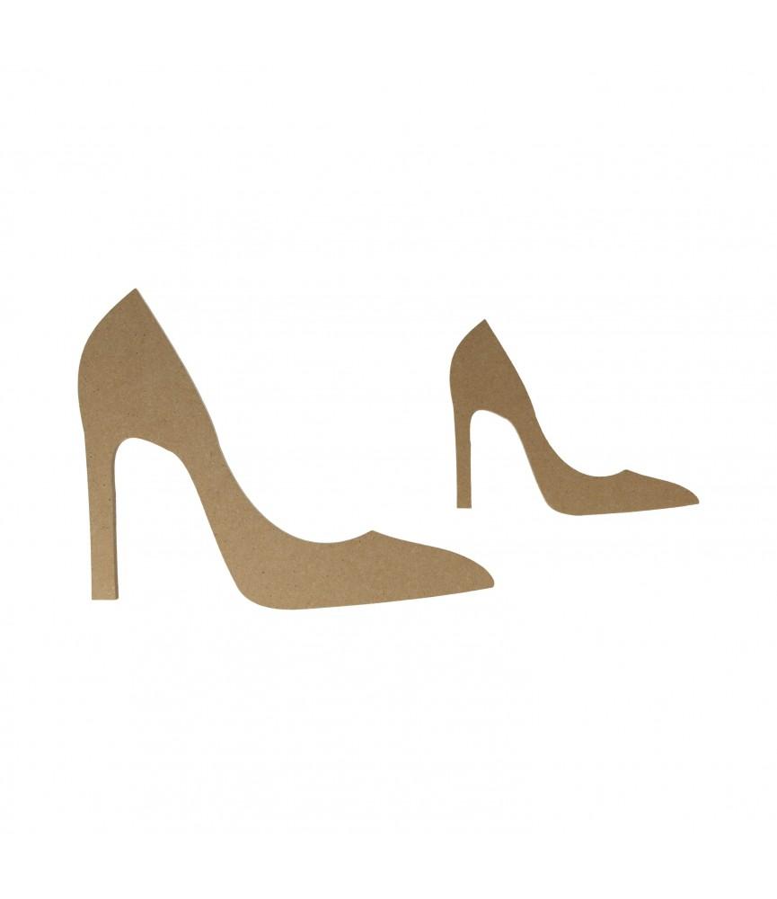 Silueta de madera zapato de tacón