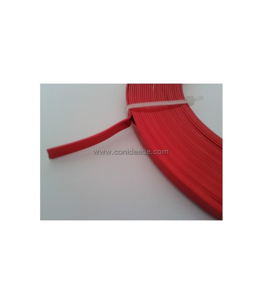Alambre plano de 5 mm rojo