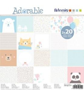 Imagén: Pack 40 hojas scrap Adorable 30x30