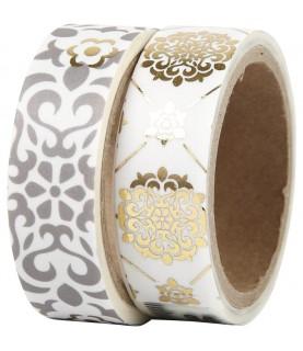 Comprar Pack 2 rollos de washi mealizados oro y plata de Conideade