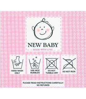 Imagén: Servilleta new baby pink 33 x 33 cm