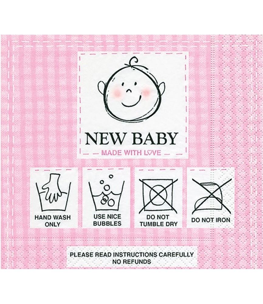 Servilleta new baby pink 33 x 33 cm