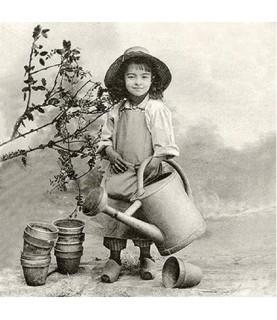 Imagén: Servilleta vintage Garden Girl 33 x 33cm