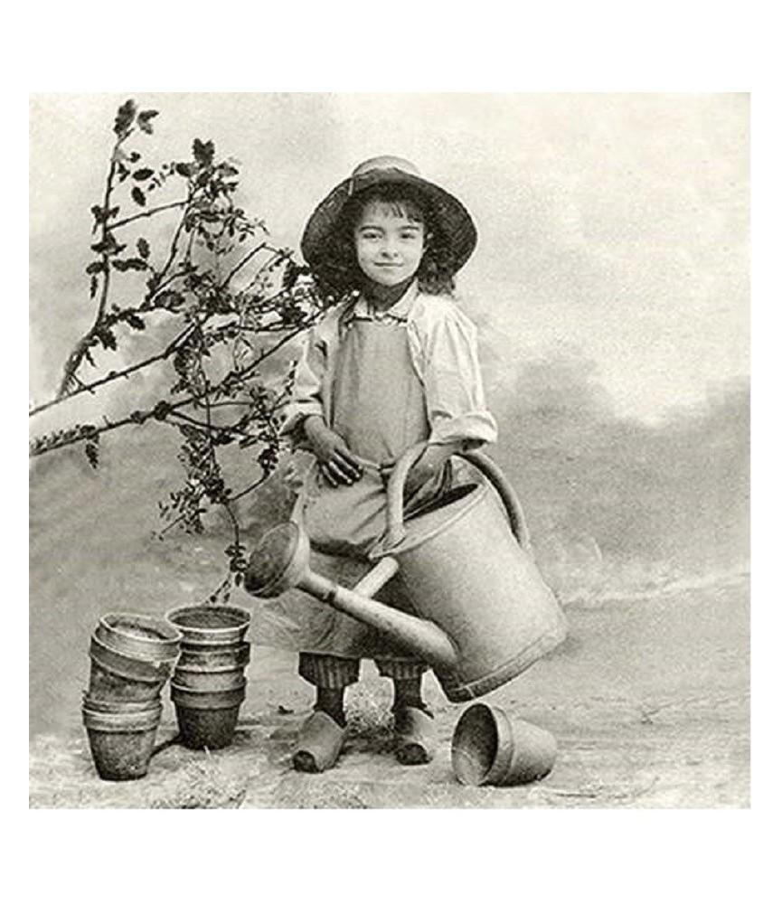 Servilleta vintage Garden Girl 33 x 33cm
