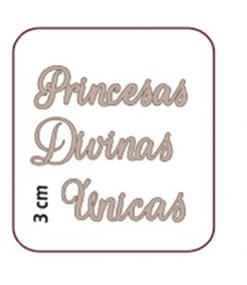 """Comprar Palabras """"Unicas, Princiesas, Divinas"""" de Conideade"""