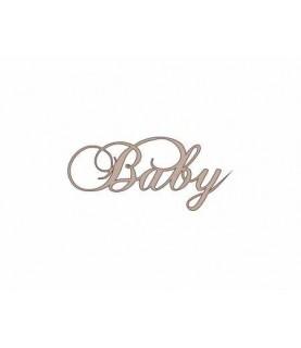 """Silueta de cartón palabra """"Baby"""""""
