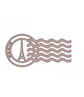 Silueta de cartón sello Paris