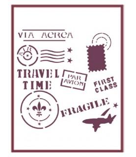 Comprar Plantilla stencil DIN-A5 Mod viaje de Conideade