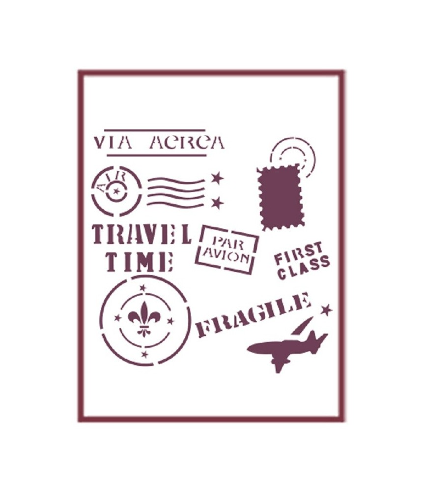 Plantilla stencil DIN-A5 Mod viaje