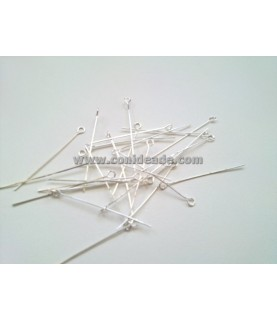 Pack de 25 bastones platateadoscon cabeza de anilla