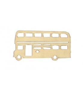 Pack 3 siluetas de un autobus de madera