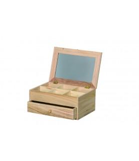 Imagén: Joyero tocador espejo de madera