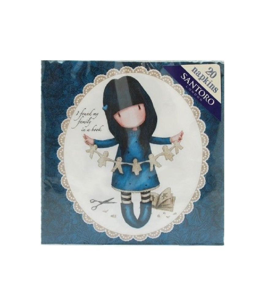 Servilleta Gorjuss azul 33x33cm