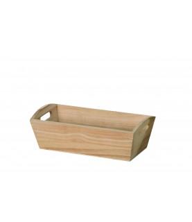 Bandeja de madera rectangular