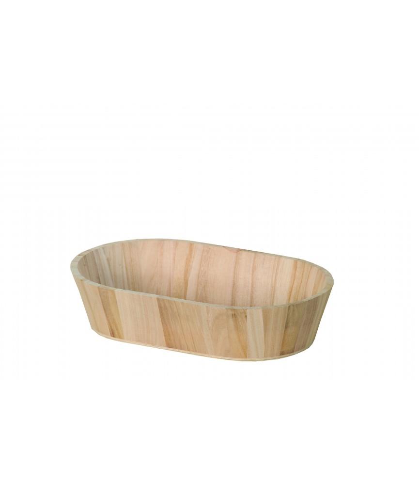 Bandeja de madera ovalada