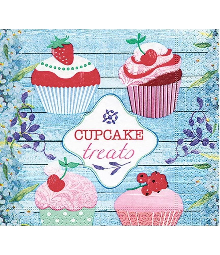 Servilleta cupcake treats 33x33 cm