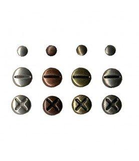 Set de 140 Brads vintage tonos metal
