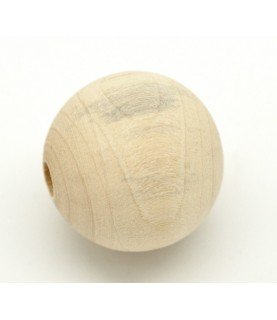 Cuenta de madera natural 2,5 cm