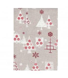 Comprar Tela lino Estampado de navidad 50x45 de Conideade
