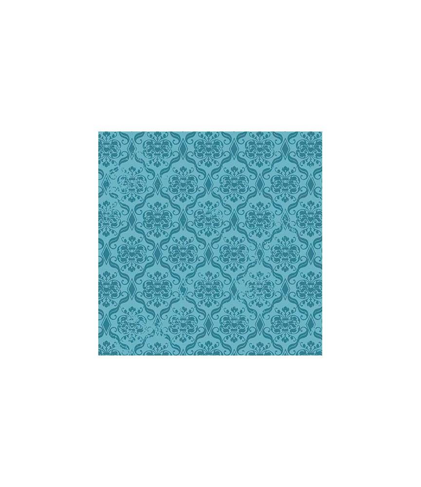 Tela Birds of a Feather mosaico azul