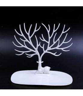 Expositor de anillos arbol blanco