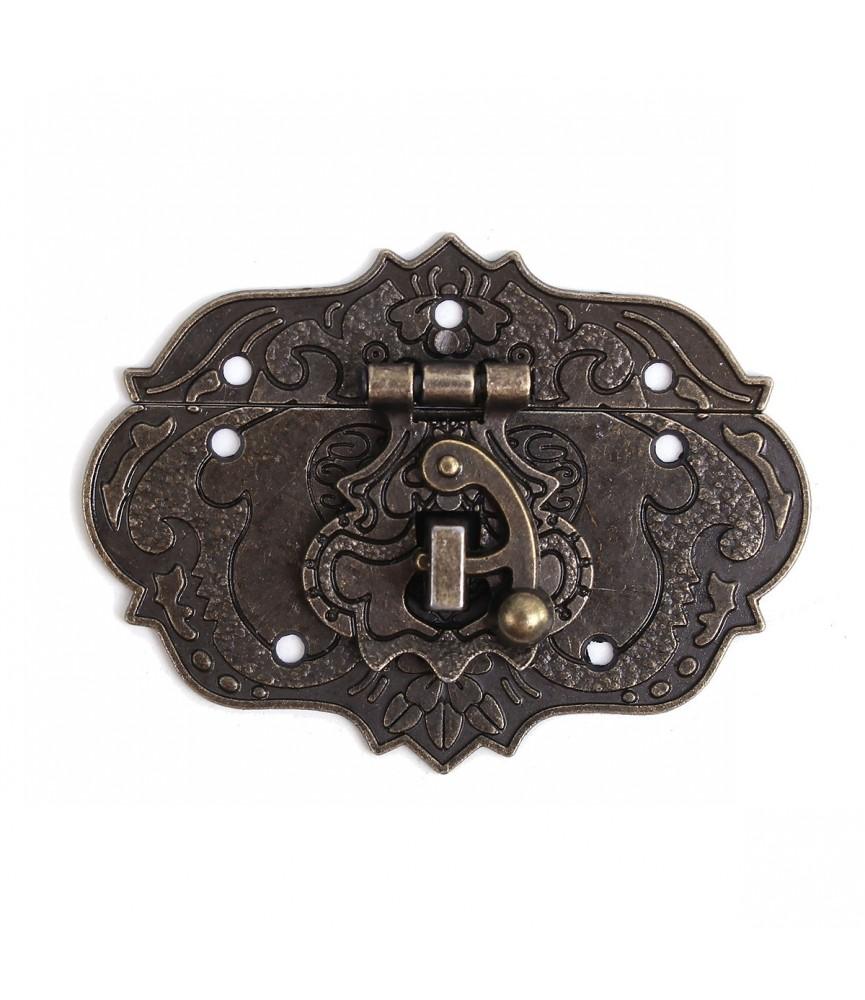 Cerradura ovalada tono bronce