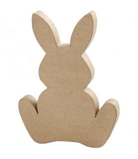 Silueta de conejo de pascua papel maché