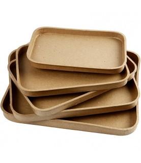 Imagén: Pack 5 bandejas de papel maché