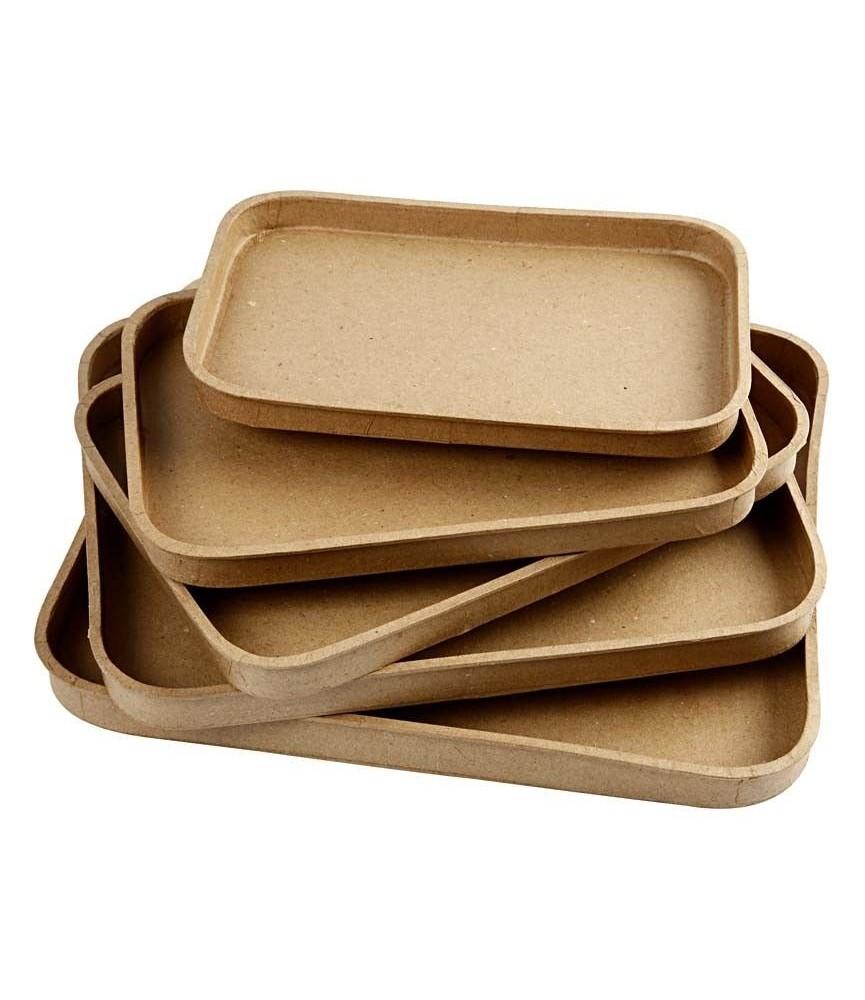 Pack 5 bandejas de papel maché