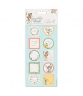Comprar Pack 20 etiquetas troqueladas Freshly cut flowers de Conideade
