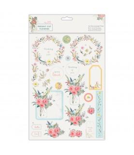 Imagén: Pack A4 4 laminas de decoupage Freshly cut flowers
