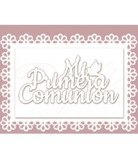 """Comprar Silueta cartón blanco """"Marco primera comunión"""" de Conideade"""
