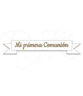 """Imagén: Placa de madera """"Mi primera comunión"""""""