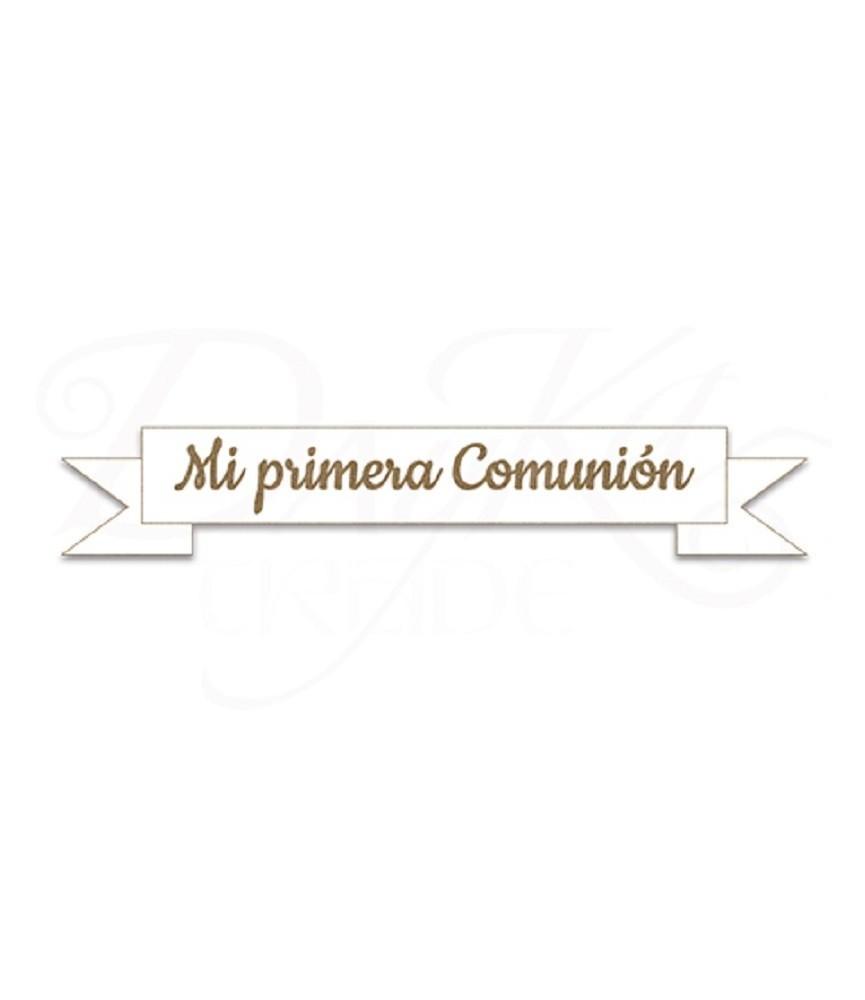 """Placa de madera """"Mi primera comunión"""""""