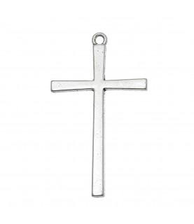 Comprar Colgante cruz plata de 4 cm de Conideade