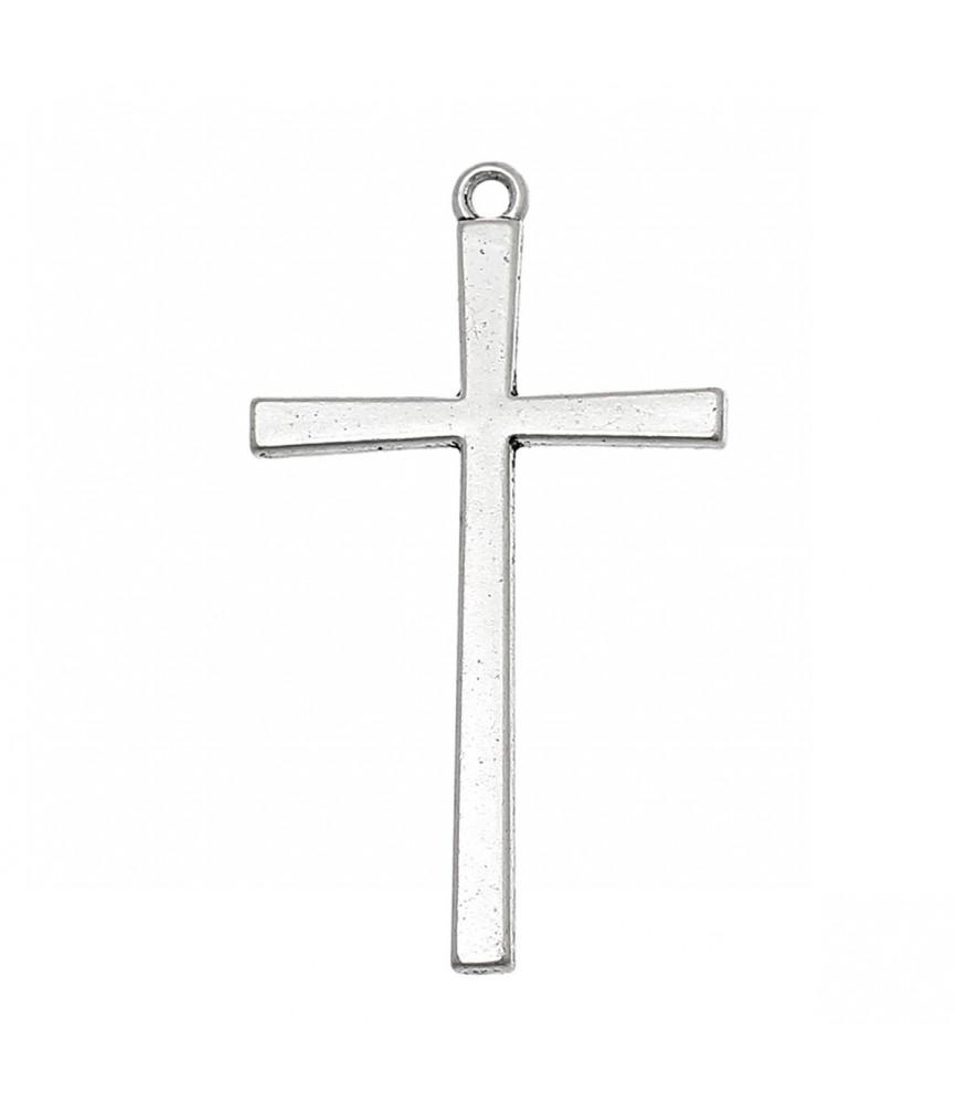 Colgante cruz plata de 4 cm